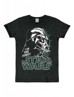Star Wars™-T-Shirt Darth Vader Slim Fit schwarz-weiss-grün