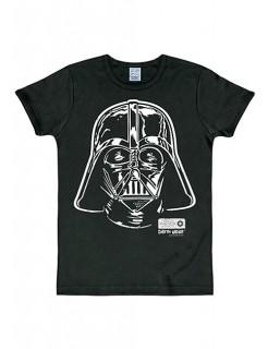 Darth Vader-T-Shirt Star Wars™ Slimfit schwarz-weiss