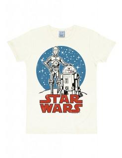 Star Wars™ Droiden-Shirt Slimfit weiss-blau-rot