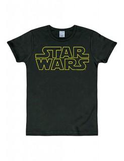 Star Wars™-Logoshirt Fanshirt schwarz-gelb