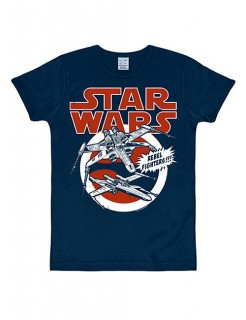 X-Wings-T-Shirt Star Wars™ Slimfit blau-rot-weiss