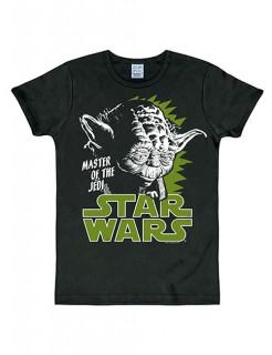 Star Wars™-T-Shirt Meister Yoda Slimfit schwarz-grün-weiss
