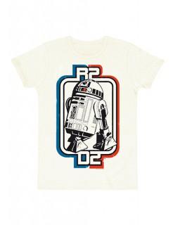 T-Shirt R2D2 Star Wars™ Logo Slimfot weiss-blau-rot