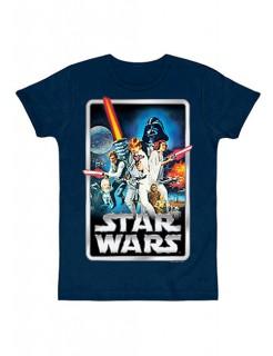 Star Wars™-Postershirt Slimfit blau-bunt