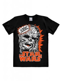Chewbacca-Shirt Star Wars™-Fanshirt schwarz-orange