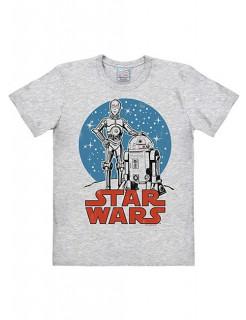 Star Wars™-T-Shirt Droiden grau-blau-rot