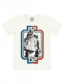 R2-D2-T-Shirt Star Wars™ Easyfit weiss-blau-rot