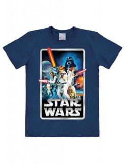 Starr Wars™ Poster-Shirt Easyfit blau-bunt