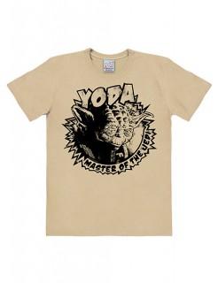 Meister Yoda-T-Shirt Star Wars™ Easyfit beige-schwarz