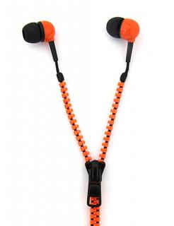 Reissverschluss-Kopfhörer orange 130cm
