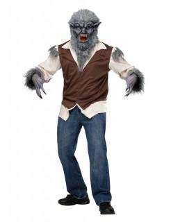 Werwolf-Halloweenkostüm grau-braun