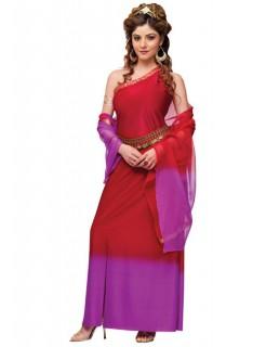 Antike Römerin Damenkostüm Göttin rot-lila