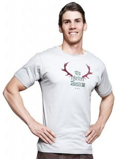 Tu Felix Austria Trachten T-Shirt Geweih grau