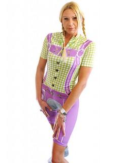 Trachten Radlerhose Damen violett