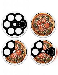 Russisch Roulette-Pizzateller schwarz-weiss 31cm