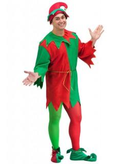 Weihnachtself Kostüm Wichtel grün-rot