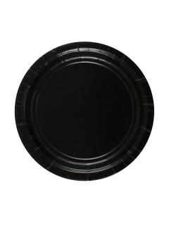 Pappteller Halloween Party-Deko 8 Stück schwarz 18cm