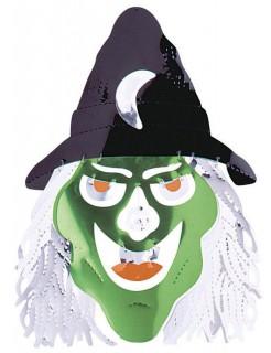 Märchen-Hexe Mobile Halloween-Hängedeko grün-schwarz 50x50cm