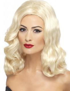 20er Can Can Hollywood Langhaarperücke blond