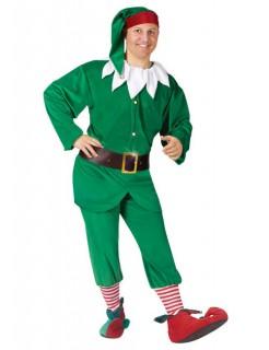 Weihnachtself Kostüm Deluxe Wichtel grün-weiss-rot