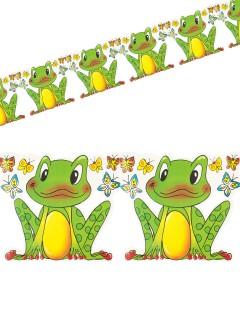 Frosch-Girlande Party-Deko gelb-grün 3m