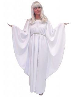 Engel-Kleid Damenkostüm Weihnachten weiss