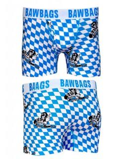 Oktoberfest BAWBAGS Boxershorts blau-weiss-schwarz