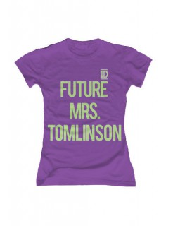 One Direction-T-Shirt Future Mrs. Tomlinson Slim Fit violett-grün