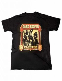 Alice Cooper-T-Shirt Elected schwarz-rot-beige