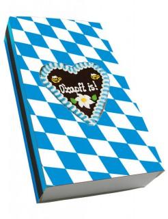 Oktoberfest Streichhölzer Lebkuchenherz Partydeko blau-weiss