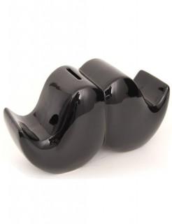 Schnurrbart-Spardose schwarz