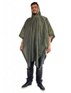 Regen-Poncho Regenmantel für Festivals olivgrün 200x127cm