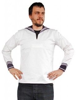 Matrose Hemd Marine Kostüm-Oberteil weiss-blau