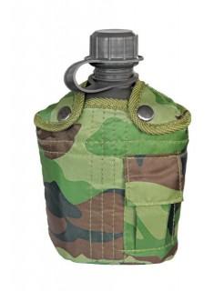 Army-Feldflasche Camping-Ausrüstung Camouflage grün-grau 1l