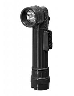 US Winkel-Taschenlampe Camping-Zubehör schwarz 22cm