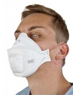 Atemschutzmaske OP-Maske Mundschutz AURA mit Spezialventil weiß