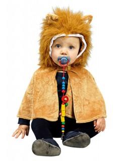 Löwe Plüsch-Cape Kinderkostüm braun
