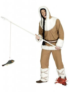 Eskimo Inuit Kostüm braun-weiss
