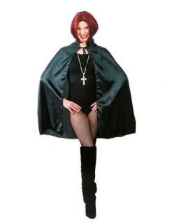 Vampir-Umhang Gothic-Cape 100cm schwarz