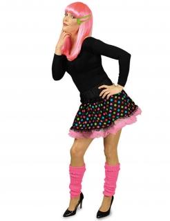 Clown Minirock Petticoat Punkte schwarz-bunt