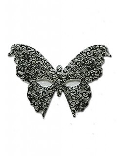 Venezianische Schmetterlings-Maske Spitze schwarz