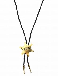 Western-Krawatte Sheriff schwarz-silber-gold