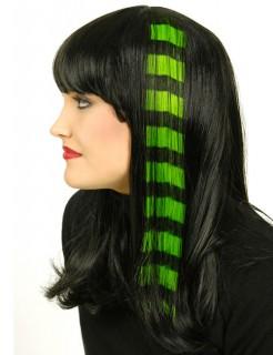 Haarsträhne Extensions gestreift Karneval-Accessoire grün-schwarz