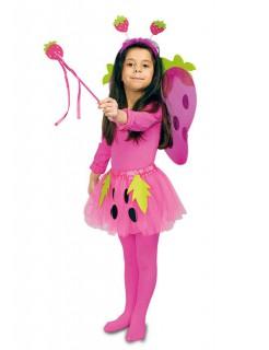 Erdbeere Kinder-Kostüm-Set pink