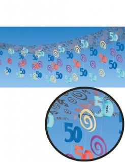 50. Geburtstag Deckendeko Party-Deko bunt 365x30cm