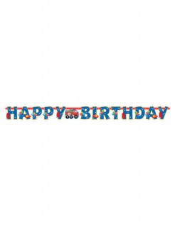 Happy Birthday Girlande Feuerwehr Party-Deko bunt 1,4m