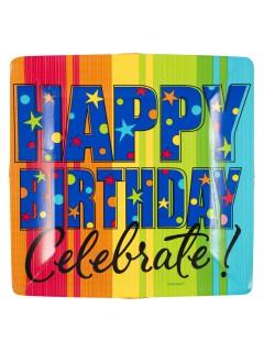Geburtstagsparty Teller Happy Birthday Celebrate 8 Stück bunt 26cm