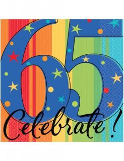 Geburtstagsparty Servietten 65 Celebrate 16 Stück bunt 25x25cm