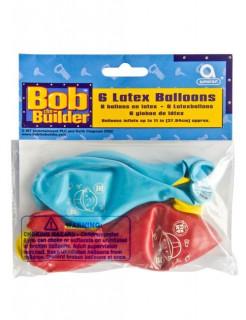 Luftballon-Set Bob der Baumeister Kindergeburtstag-Deko 6 Stück bunt 28cm