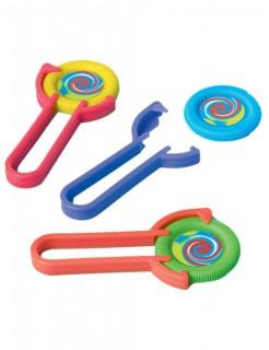 Disc-Shooter Spielzeug-Set 24-teilig bunt 11x5x1cm
